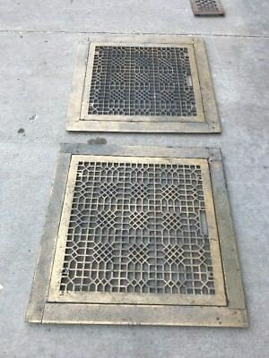 2 Available Price Separate Antique Floor Heating Grate With Frame 32 In.²