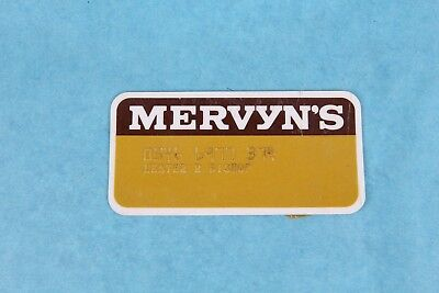 Vintage Mervyn's Department Store Credit Charge Card