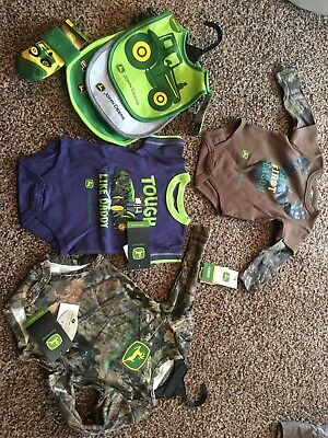 Infant John Deere clothing lot- brand new with tags.