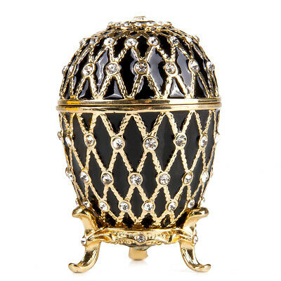 Russian Faberge Egg Made Russia Gold Netting Jewelry Box Easter Gift Box