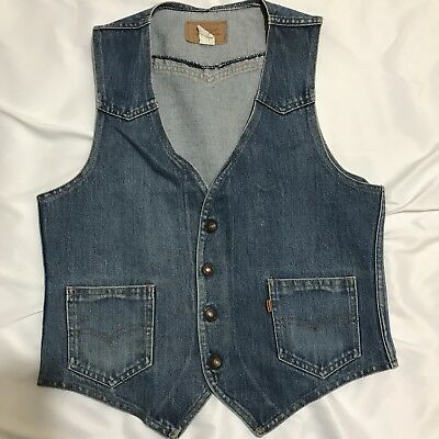 Levi's Men's Medium Vintage Sleeveless Denim Jean Vest