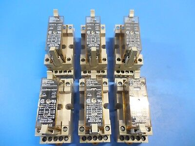 Omron G7S-4A2B Relay 3A 24VDC 240VAC with P7S-14F-END Base Lot of 6