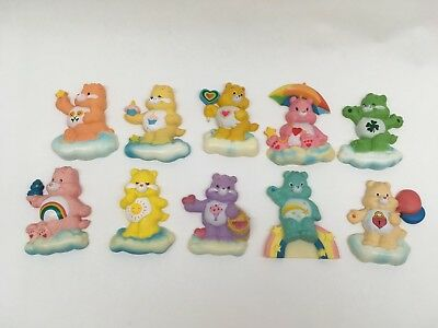 Care Bear Vintage 1985 Plastic Magnets - Lot of 10