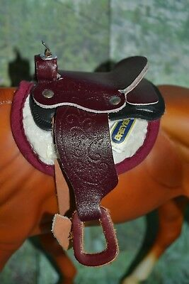 Breyer Traditional Western Saddle Brown Leather