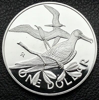 1973 British Virgin Island Proof Coin .925 Silver Sterling Silver Coin (2433)