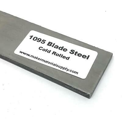 "1095 Cold Rolled Annealed Blade Steel Knife Making Billet- 3/16"" x 1.5"" x 9"""