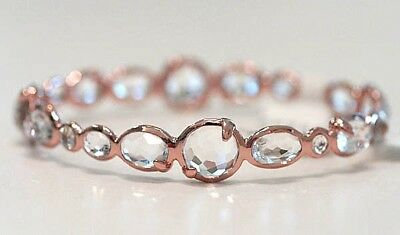 New Ippolita Rose Gold Clear Quartz Bangle Bracelet