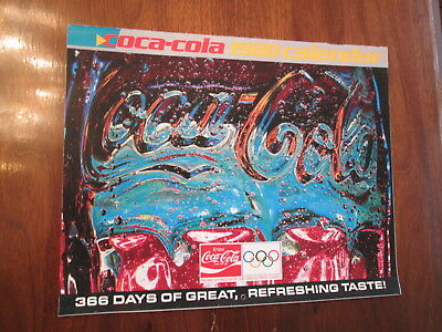 1988 Coca~Cola Wall Calendar - Were You Born In This Year 1988 ??