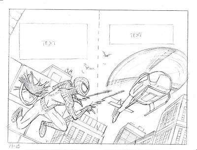 Classic Spider-Man Vs Electro Original Comic Art Splash Page (14-15) *published*