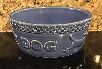 "Longaberger Mulligan Blue Dog Large 7.75""Bowl USA"