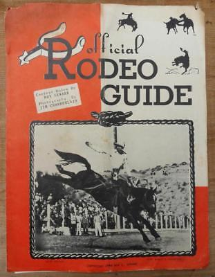 vintage OFFICIAL RODEO GUIDE & INSERT Memphis, Tennessee TN ~1949~