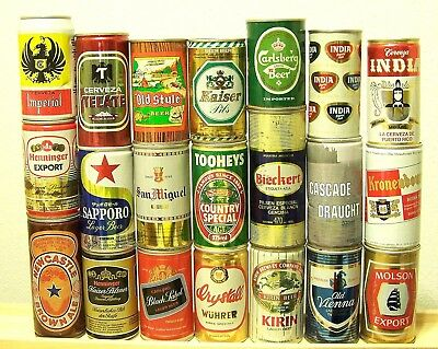 **lot of 21 INTERNATIONAL beer can collection