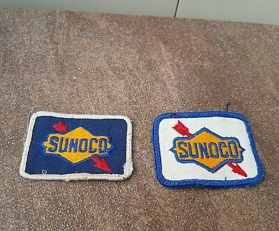 (2) VINTAGE SUNOCO EMBROIDERED SEW ON UNIFORM  PATCHES ** Free Shipping **