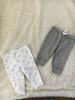 NWOT Carter's Baby Gender Neutral Set Of TWO Pants 3 Month