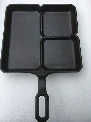 Vintage Griswold 666 Colonial Breakfast Cast Iron Skillet  Erie PA  Large Logo