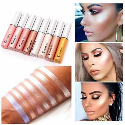 8 Colors Makeup Highlighter Liquid Cosmetic Lady Face Contour Brightener Shimmer