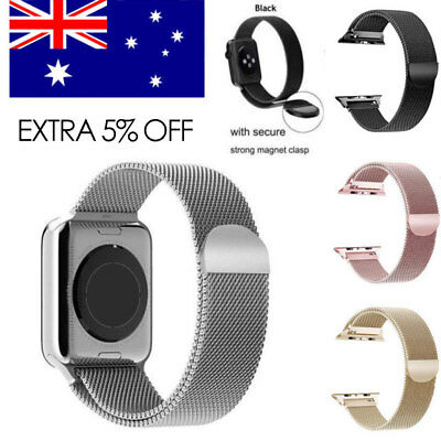 For Apple Watch Series 3/2/1  Magnetic Milanese Stainless Steel Watch Band Strap