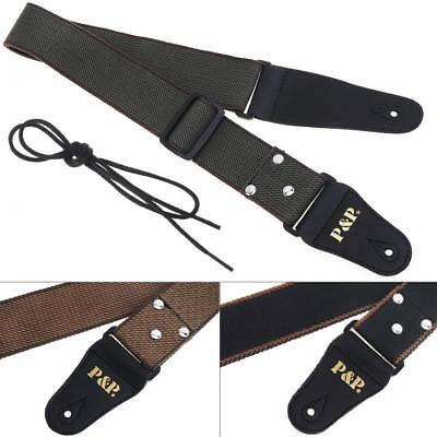 Adjustable Cotton Guitar Strap Belt For Electric Acoustic Guitar Electric Bass
