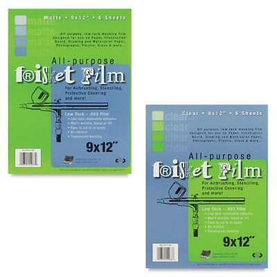 GRAFIX FRISKET FILM  All-Purpose Masking Film - A4 - 6 Sheets (Clear & Matte)