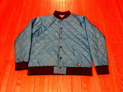 cb12252fc MEN'S THE NORTH Face Jester Reversible Quilted Blue Black Bomber Jacket sz L