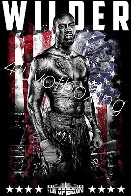 778df823 Deontay Wilder Boxing BK 11x17 Poster 4LUVofBOXING HW Champ Bronze Bomber  New