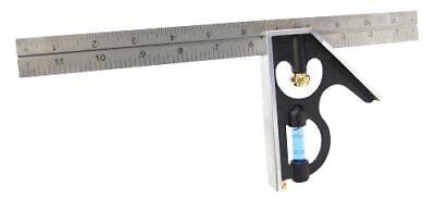 12-Inch Heavy Duty Professional Combination Square w/Etched Stainless Steel