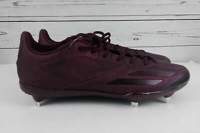 competitive price 4bd7e d20d6 Adidas Mens Adizero Afterburner 3 Size 13 Low Metal Baseball Cleats Maroon  New