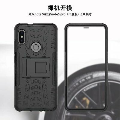 For Xiaomi Redmi Note 5 Pro Shockproof Hybrid Armor Brushed Rugged Case Cover