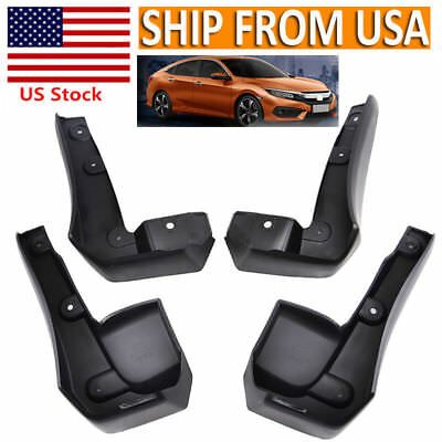 4x Splash Guards Mud Flaps for Honda Civic 2016 2017 Front /& Rear Left Right