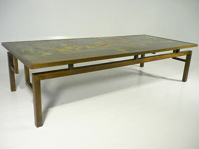 60's Mid Century Modern Philip Kelvin Laverne Bronze Chin Ying Coffee Table
