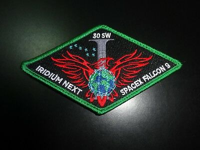 Spacex Falcon 9 Iridium 1 (I) Next 30 Sw Mission Patch