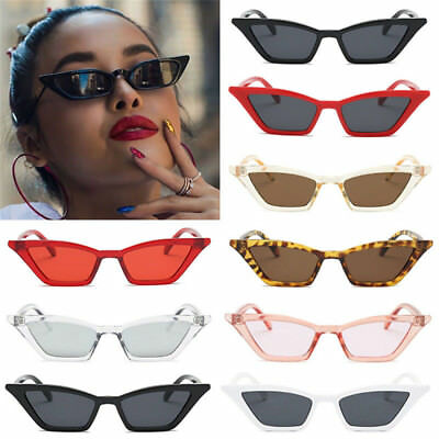 Women Vintage Cat Eye Sunglasses Retro Small Frame Summer Uv400 Eyewear Fashion