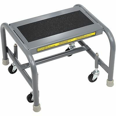 Tri Arc WLSR001163-WM 1 Step Mobile Steel Step Stand w/ Solid Anti-Slip Top