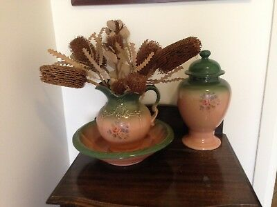 Full Size Antique Wash Basin Jug And Vase. Tullamarine Location