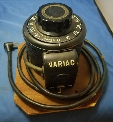 General Radio Co. Variac Type V5, 5amp Good Looking & Working Condition 115v