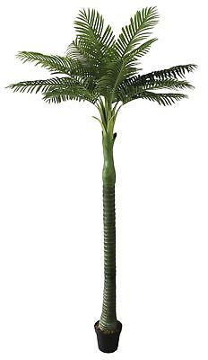 Realistic Artificial Palm Tree Plant 280cm Tall Indoor Outdoor Foliage