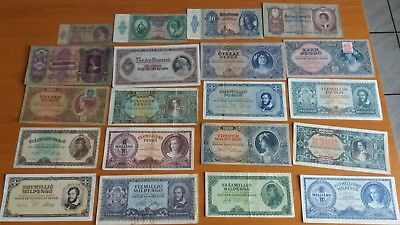 Old Banknote Set of Hungary 20 pcs all different