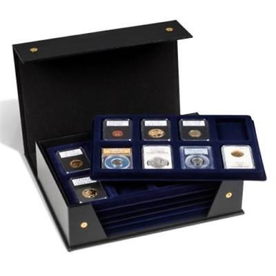 Certified Coin Slab Folder Box Case + 6 Graded NGC PCGS Trays Tablo Lighthouse