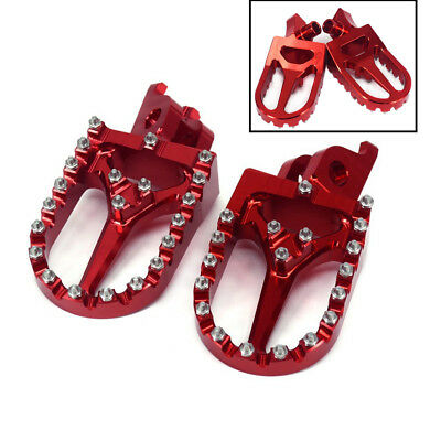 Red CNC Motorcycle Footrest Foot Peg Pedal For Honda CRF250R 450R 450X 450RX CR