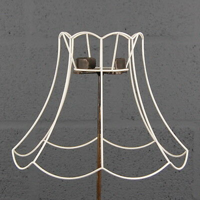 Vintage lampshade frame 999 picclick uk 14 scollop top bottom vintage retro wire lampshade lamp shade frame greentooth Choice Image