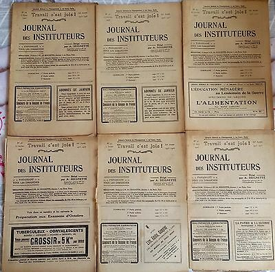 "1)Lote de 6 ""Journal maestros"" Año 1916"
