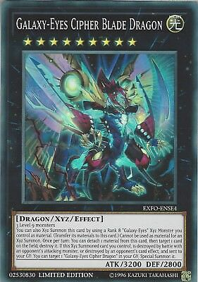 Yu-Gi-Oh: GALAXY-EYES CIPHER BLADE DRAGON  EXFO-ENSE4 Super Rare Limited Edition
