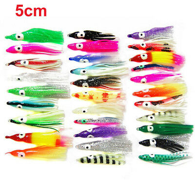 100/50pcs Octopus Squid Skirt Lures Bait Hoochies Saltwater Soft Fishing Lures