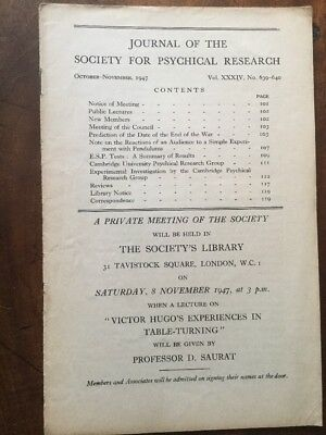 Journal Society for Psychical Research. Vol 34, 639-640, Oct Nov 1947