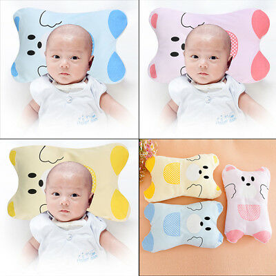 Baby Infant Newborn Pillow Support Cushion Anti-Flat Head Soft Cotton Pram/Crib