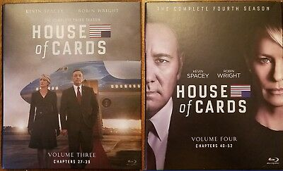 House of Cards The Complete Season 3 & 4 Bluray Sets Choose Combine Shipping.