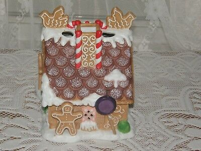 Party Lite Gingerbread House Christmas  Tea Light Candle Holder