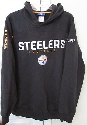 NFL Pittsburgh Steelers Hoodie Sweatshirt Adult Large EUC by Reebok