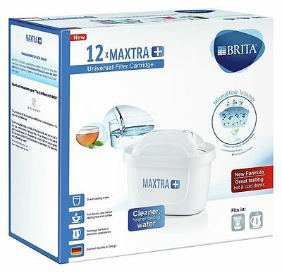 12 Brita Maxtra+ PLUS Water Filter Cartridges ANNUAL PACK. BNIB. NEW FORMULA.