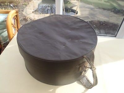 Vintage Brown Hat Box Carry Case Small Hand Luggage Stage Prop